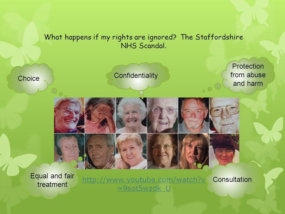 What happens if my rights are ignored The Staffordshire NHS Scandal.