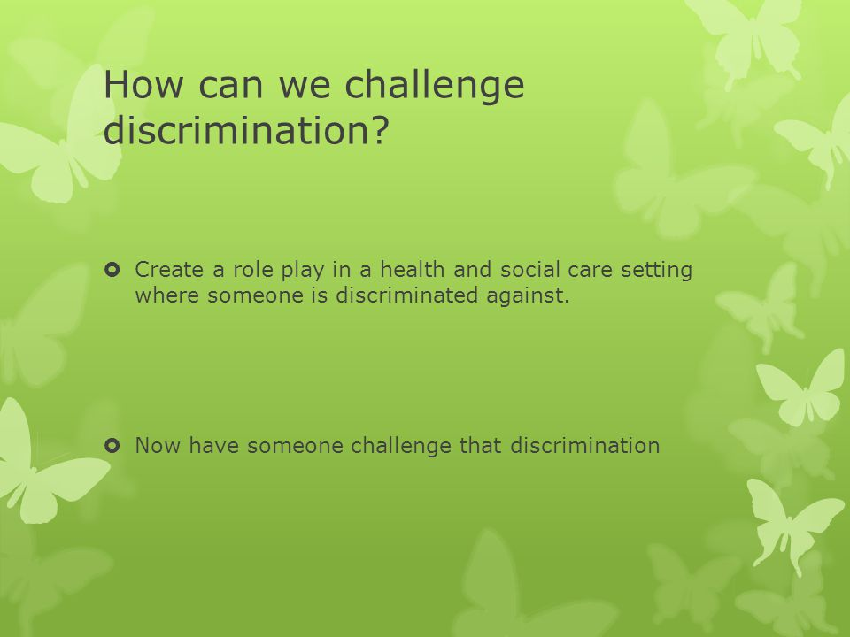 how to challenge discrimination in a Challenging exclusion and discrimination, providing learning and training opportunities for disabled people.