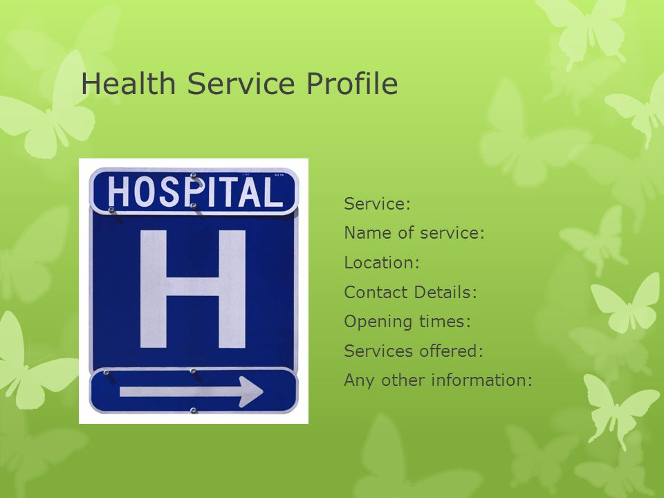 Health Service Profile