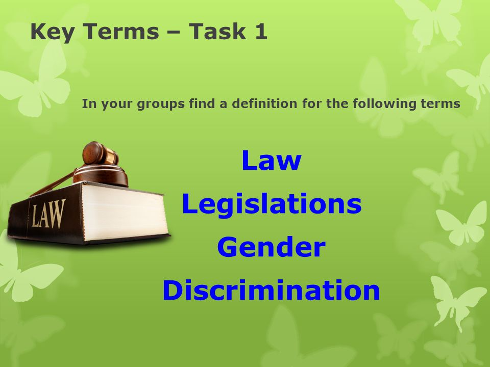 In your groups find a definition for the following terms