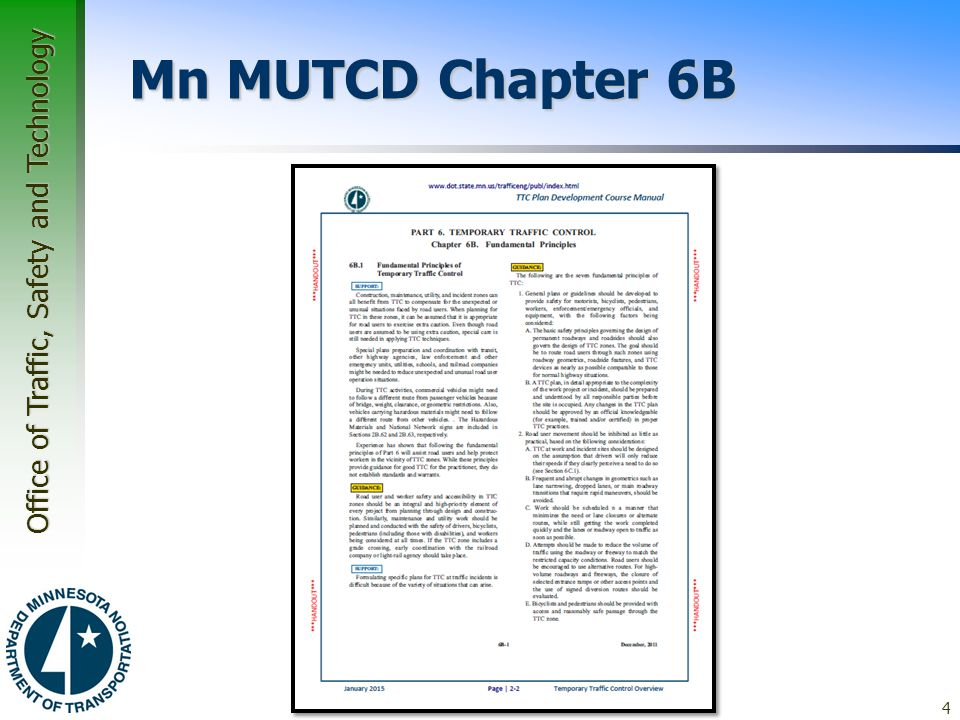 Mn MUTCD Chapter 6B