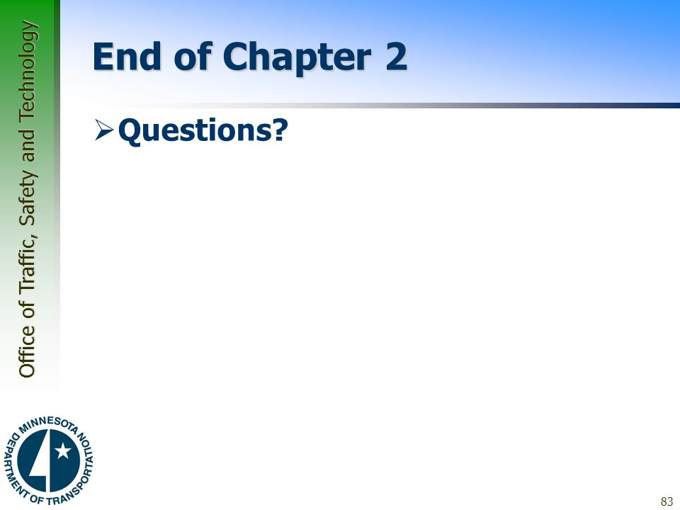 End of Chapter 2 Questions