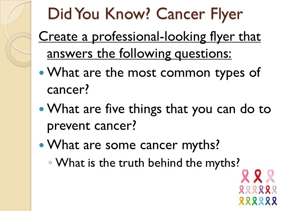 Did You Know Cancer Flyer