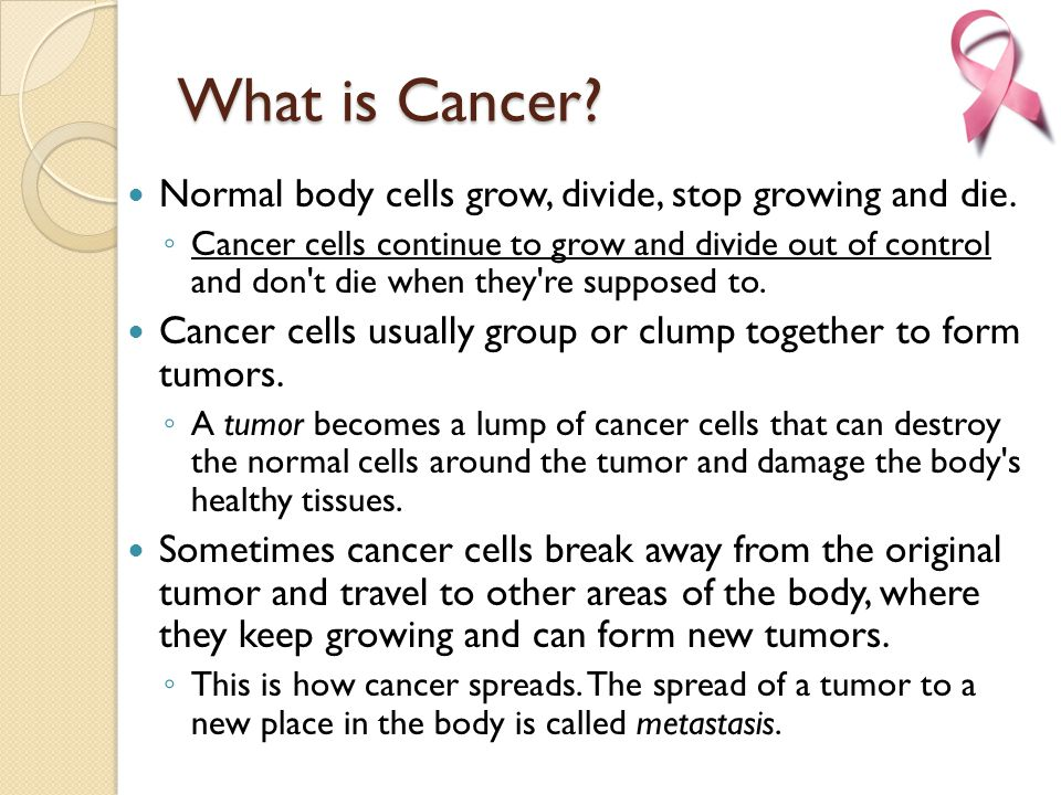 Cancer: Body Systems Integration - ppt download
