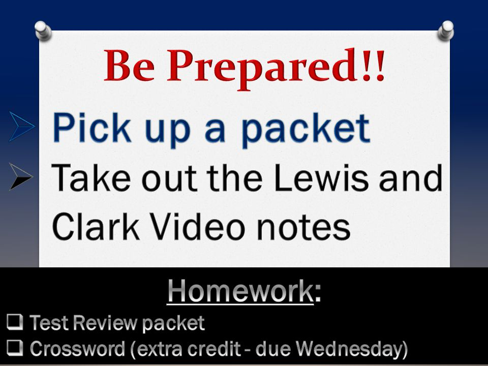 Be Prepared!! Pick up a packet