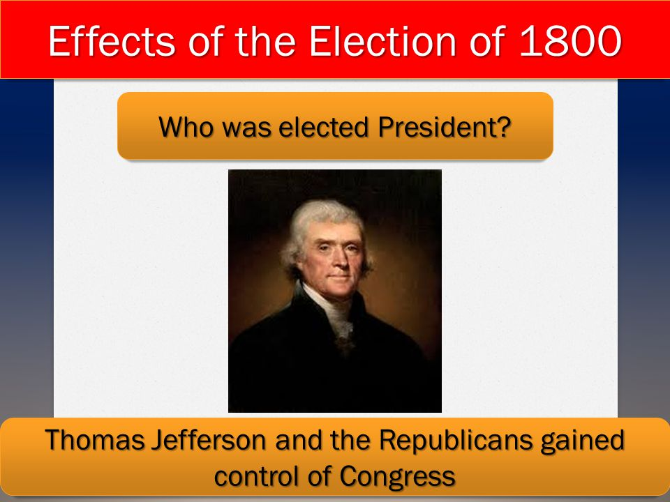 Effects of the Election of 1800