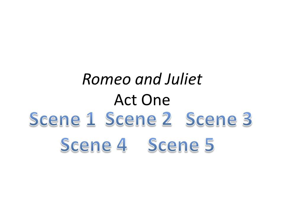 Romeo and Juliet Act One
