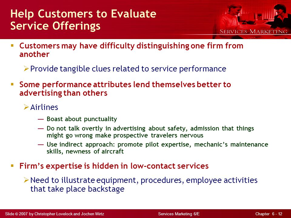 Help Customers to Evaluate Service Offerings