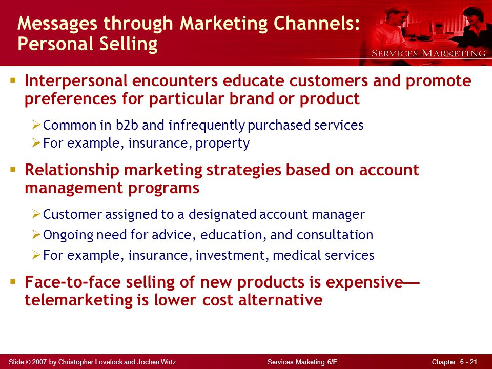 Messages through Marketing Channels: Personal Selling