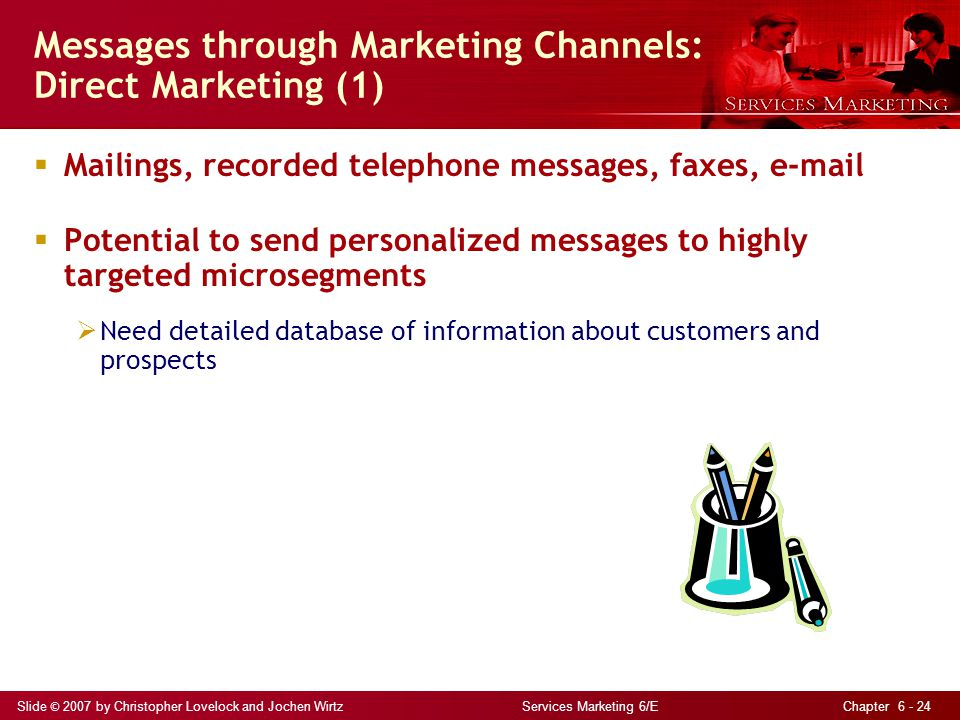 Messages through Marketing Channels: Direct Marketing (1)