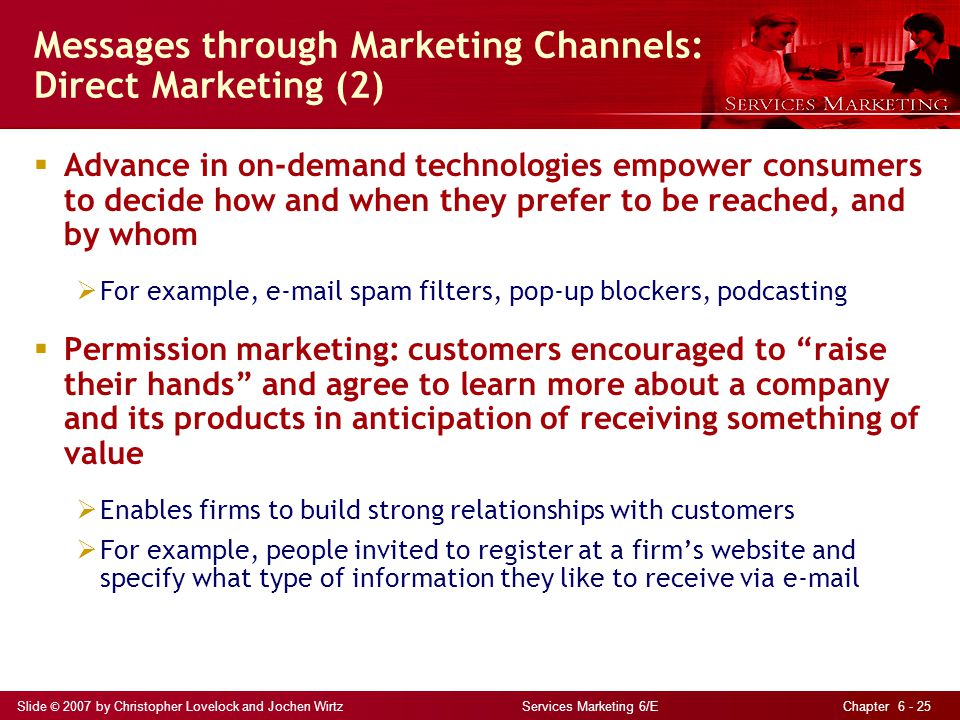 Messages through Marketing Channels: Direct Marketing (2)