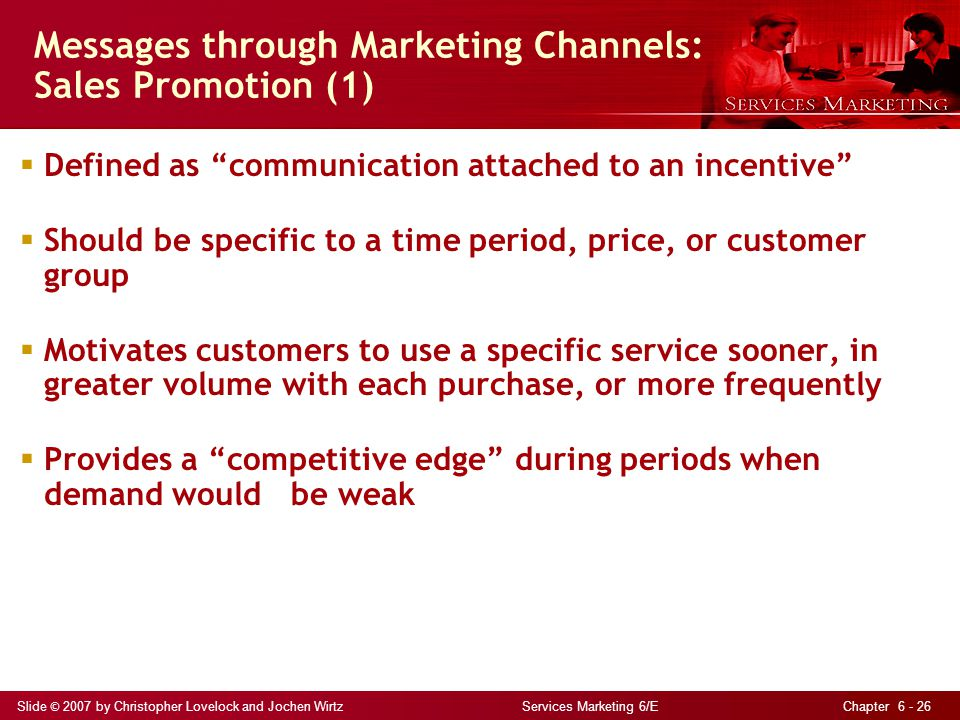Messages through Marketing Channels: Sales Promotion (1)