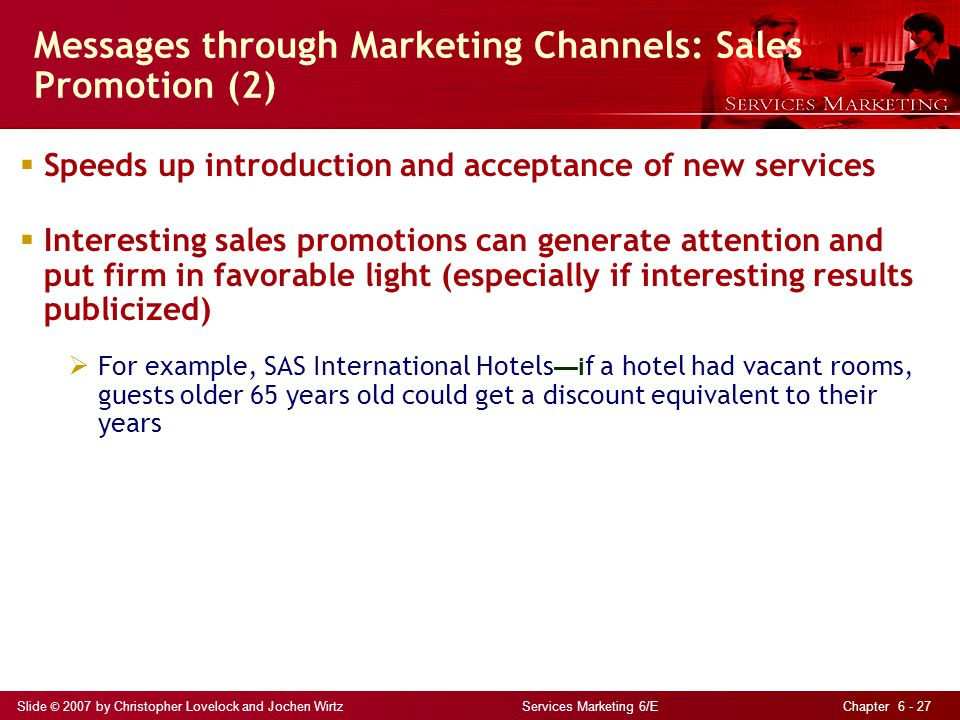 Messages through Marketing Channels: Sales Promotion (2)