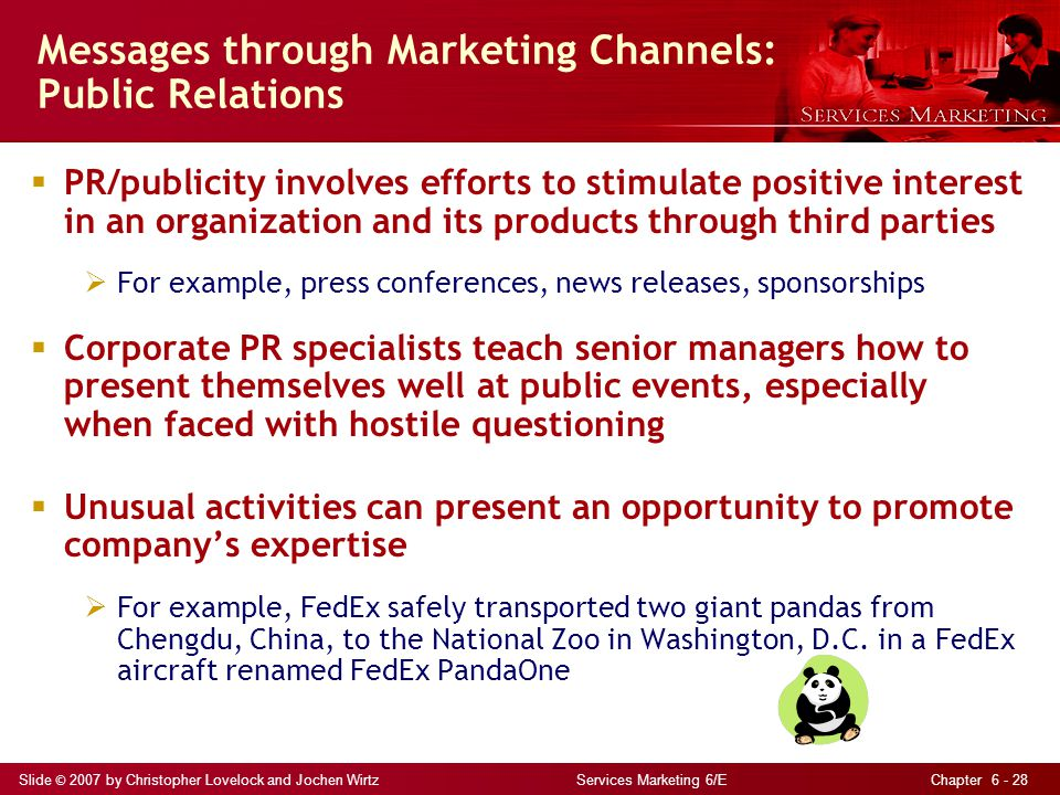 Messages through Marketing Channels: Public Relations
