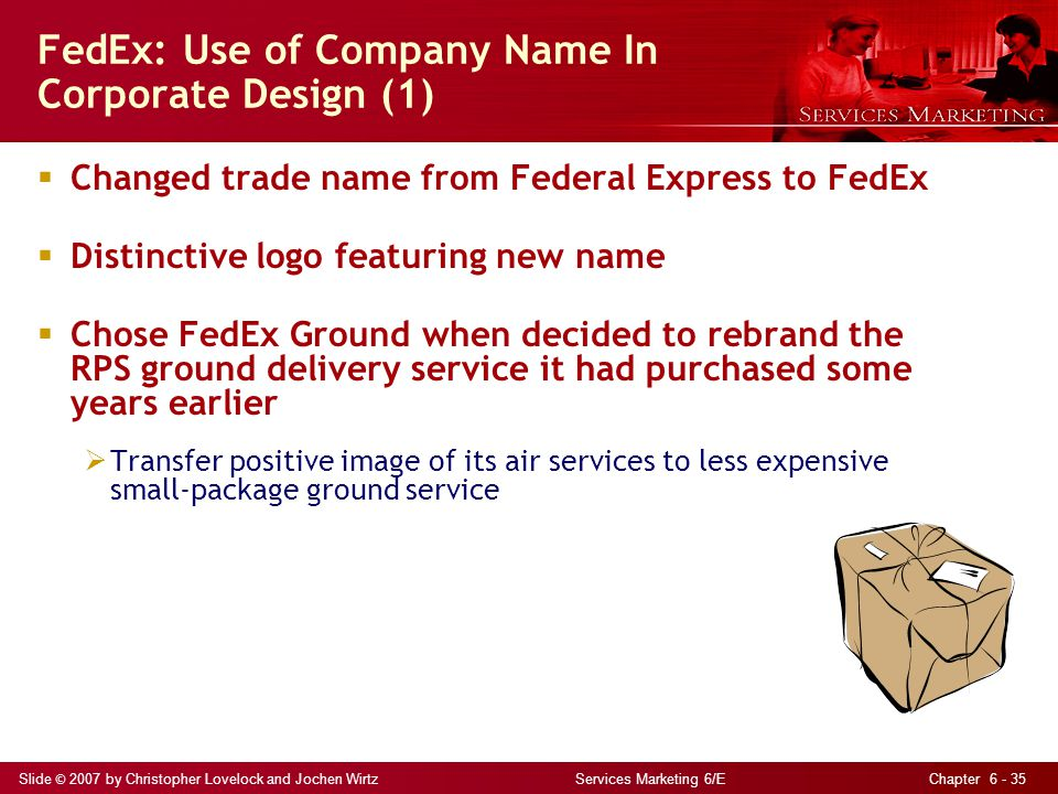 FedEx: Use of Company Name In Corporate Design (1)