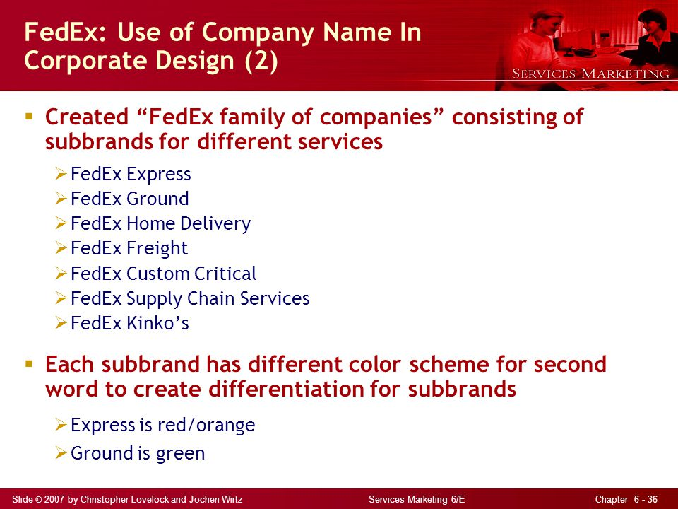 FedEx: Use of Company Name In Corporate Design (2)