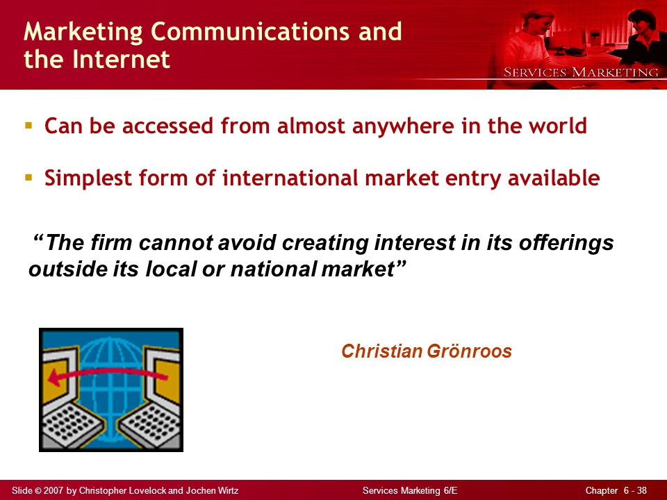 Marketing Communications and the Internet