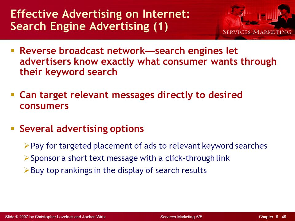 Effective Advertising on Internet: Search Engine Advertising (1)