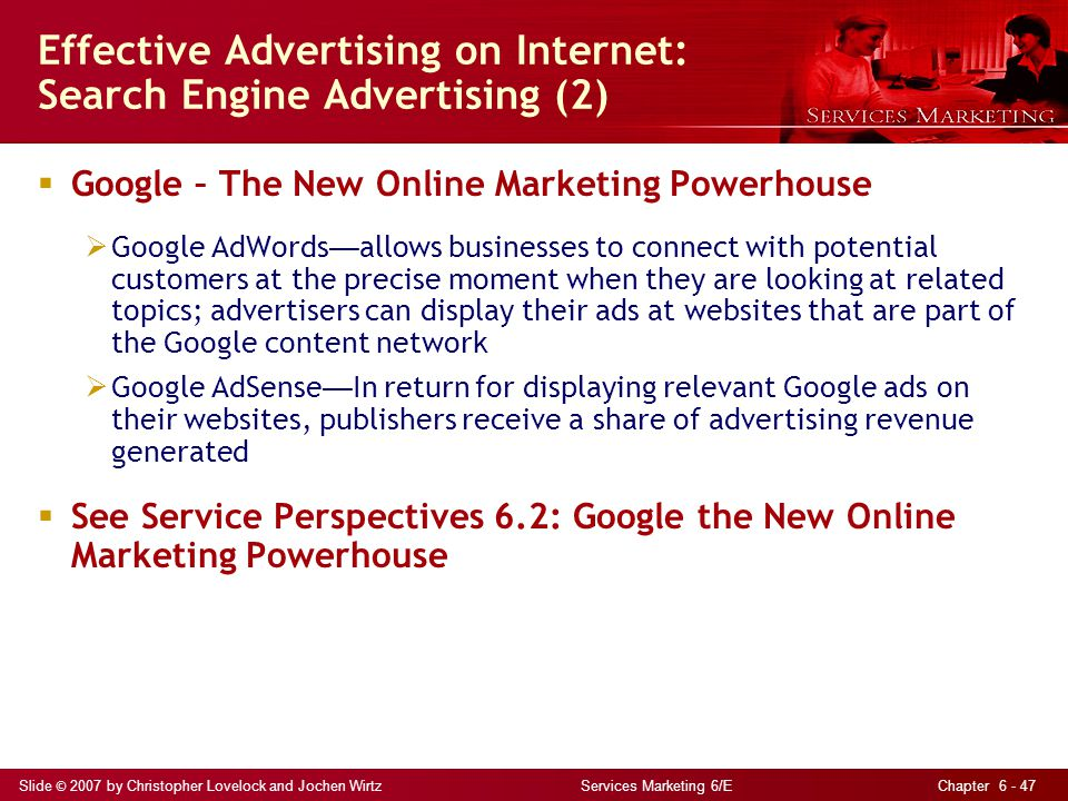 Effective Advertising on Internet: Search Engine Advertising (2)