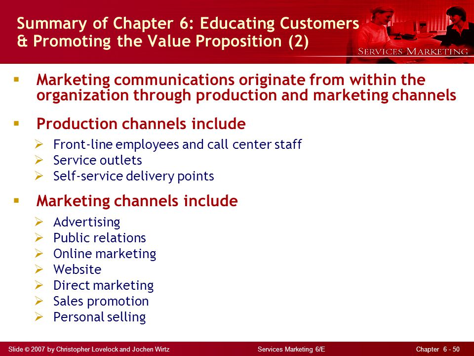 Summary of Chapter 6: Educating Customers & Promoting the Value Proposition (2)