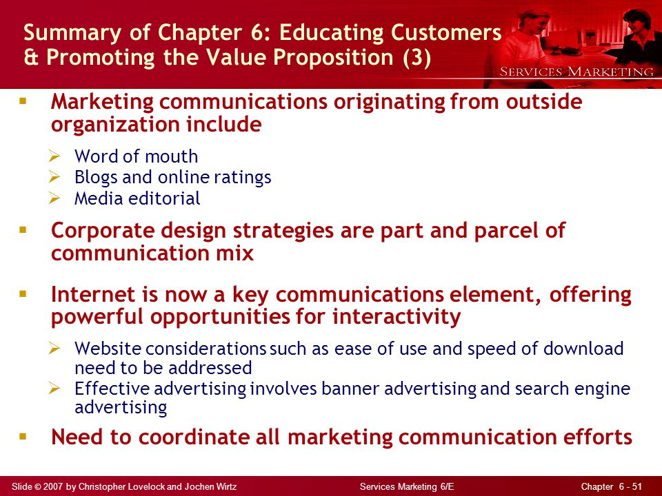 Summary of Chapter 6: Educating Customers & Promoting the Value Proposition (3)