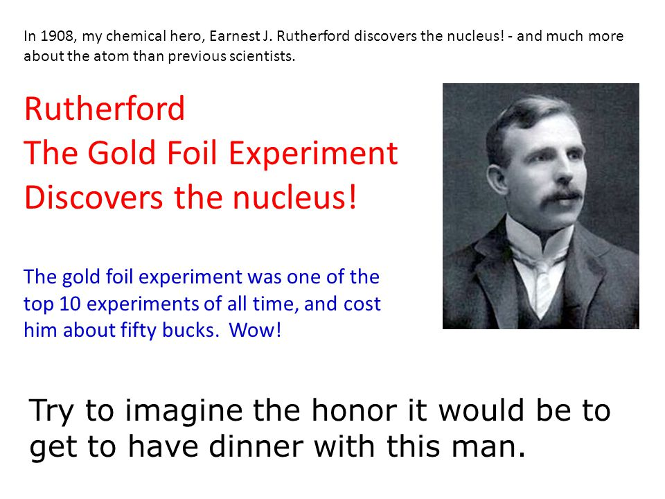 The Gold Foil Experiment Discovers the nucleus!