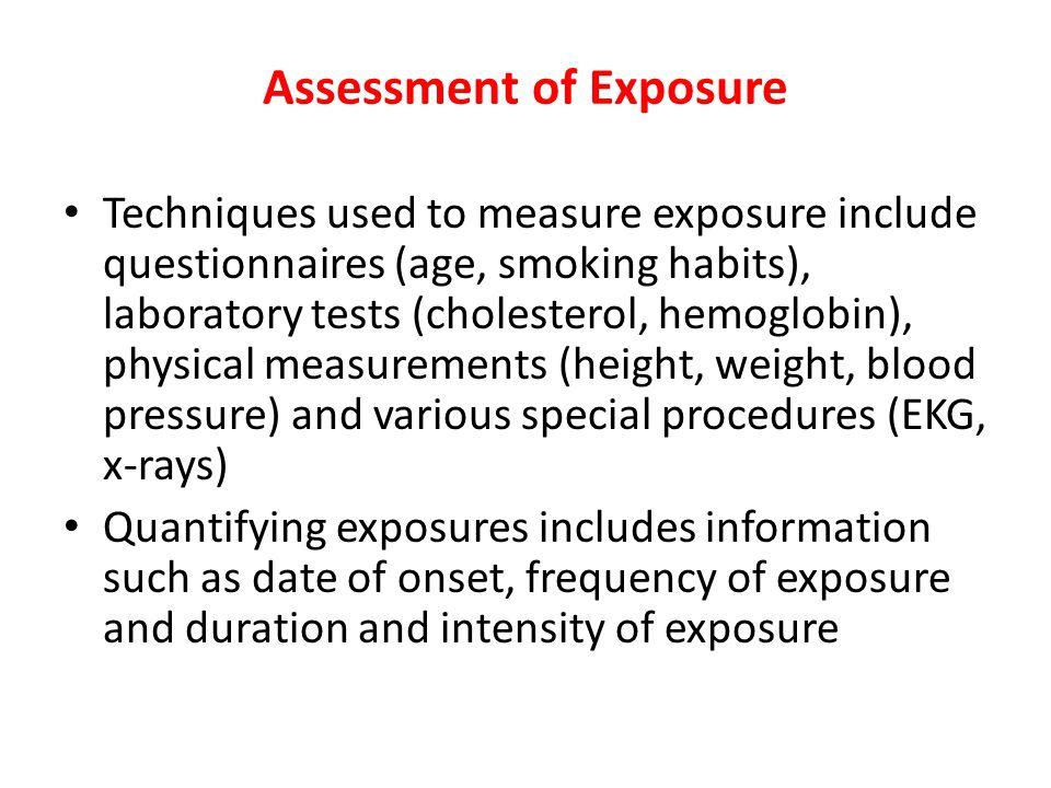 Assessment of Exposure