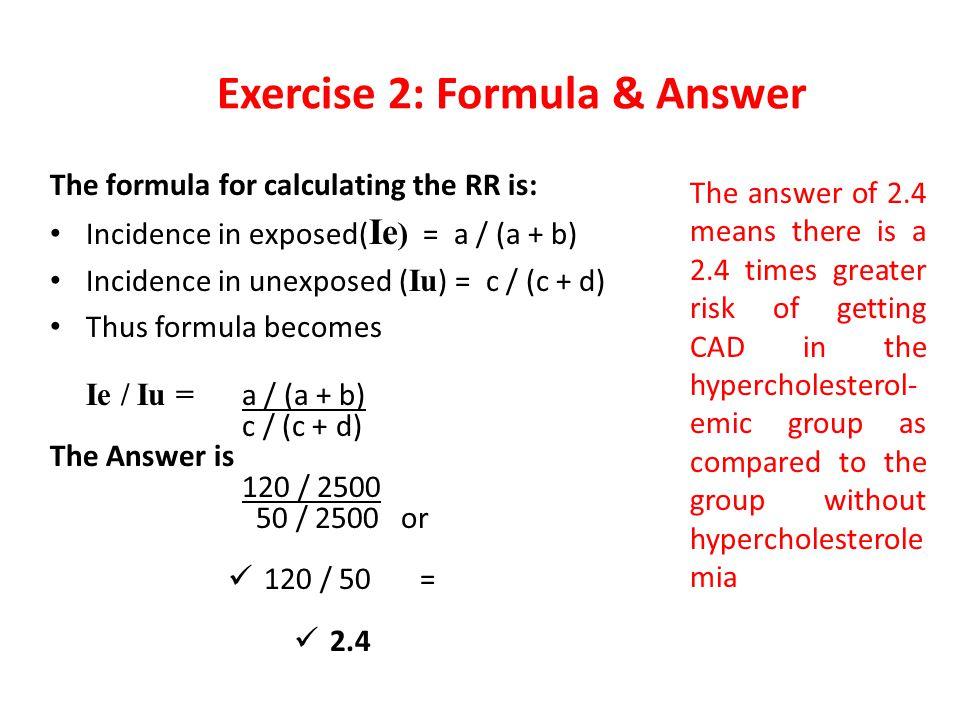Exercise 2: Formula & Answer