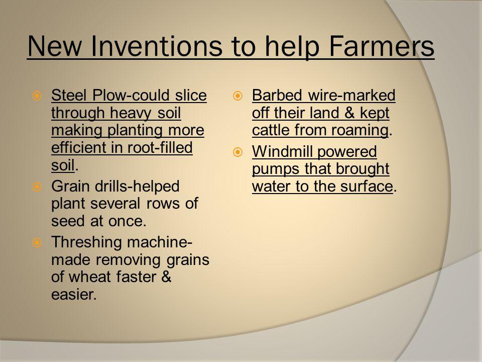 New Inventions to help Farmers