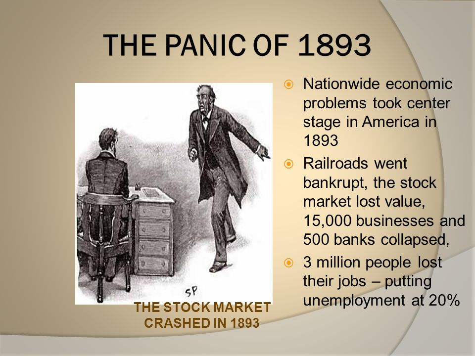 THE STOCK MARKET CRASHED IN 1893