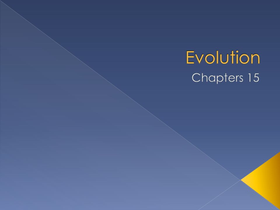 Evolution Chapters 15