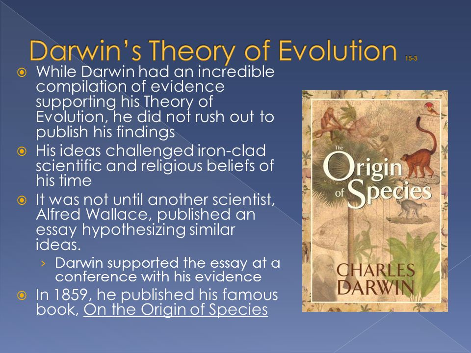 Darwin's Theory of Evolution 15-3