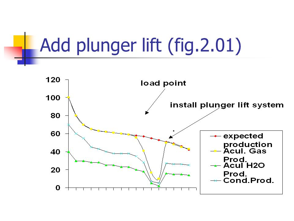Add plunger lift (fig.2.01)