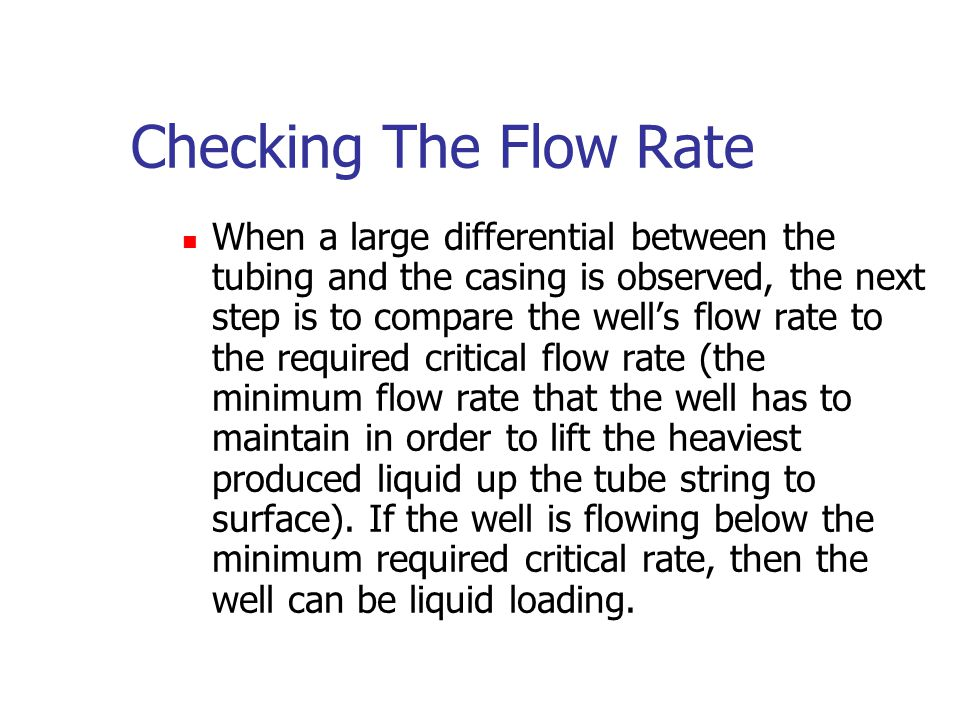 Checking The Flow Rate