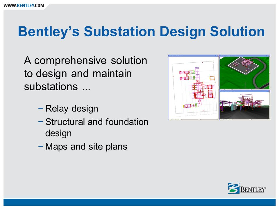 Bentley's Substation Design Solution