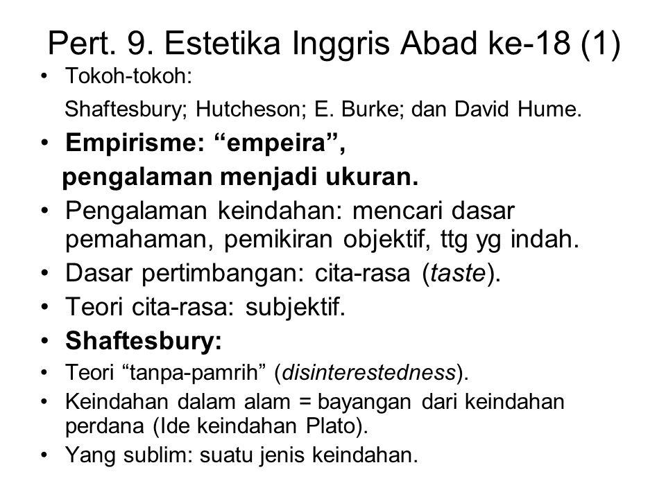 Pert. 9. Estetika Inggris Abad ke-18 (1)