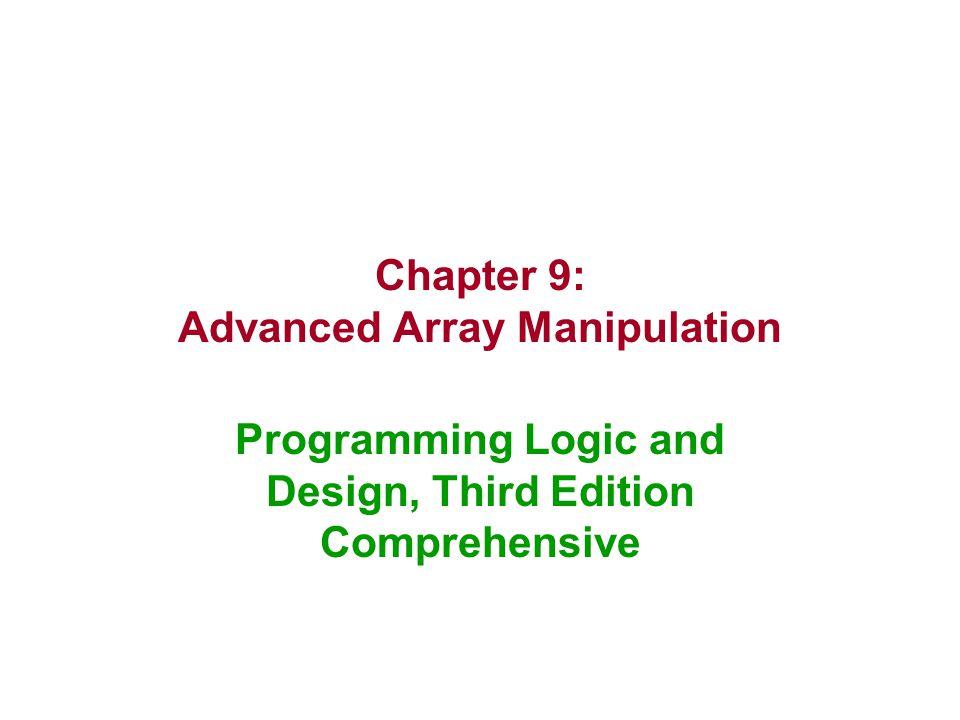 Chapter 9: Advanced Array Manipulation
