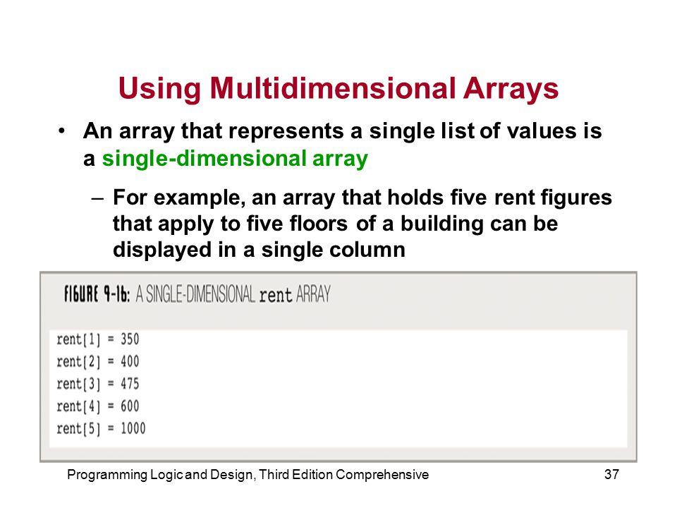 Using Multidimensional Arrays