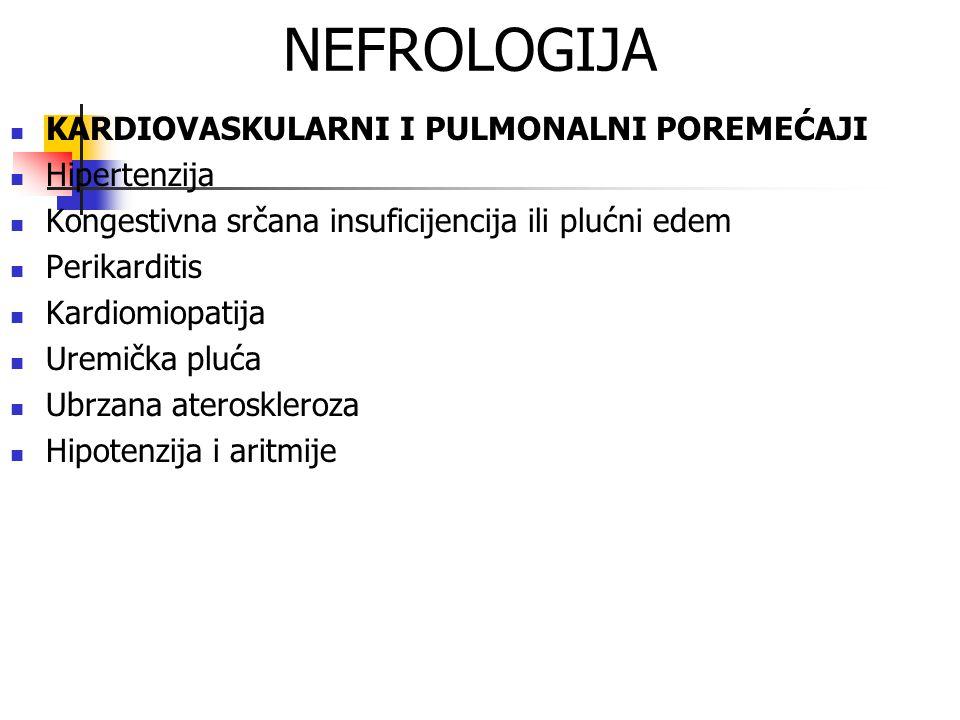 NEFROLOGIJA KARDIOVASKULARNI I PULMONALNI POREMEĆAJI Hipertenzija