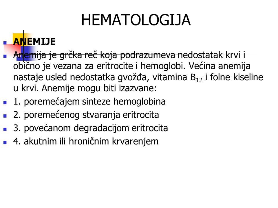 HEMATOLOGIJA ANEMIJE.
