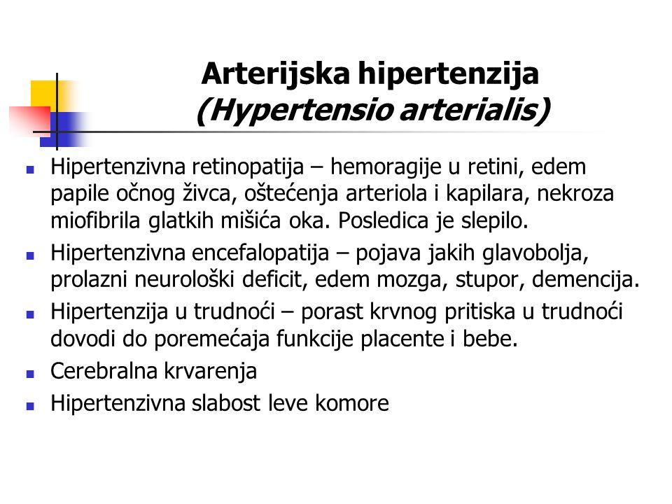 Arterijska hipertenzija (Hypertensio arterialis)