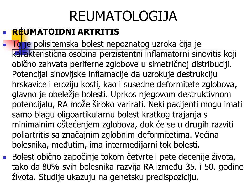 REUMATOLOGIJA REUMATOIDNI ARTRITIS