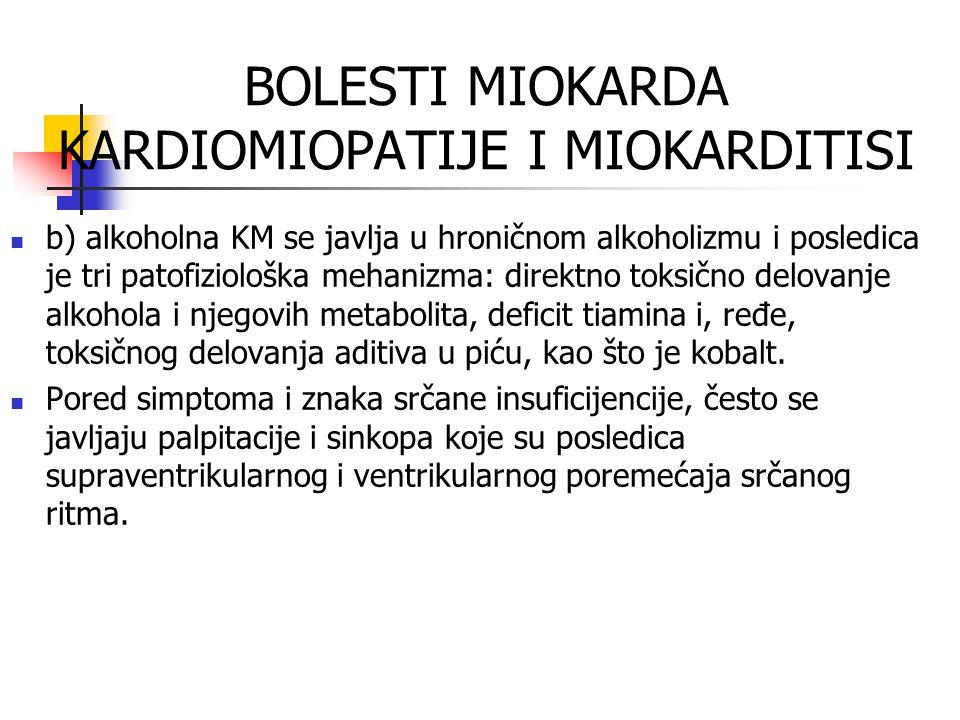 BOLESTI MIOKARDA KARDIOMIOPATIJE I MIOKARDITISI