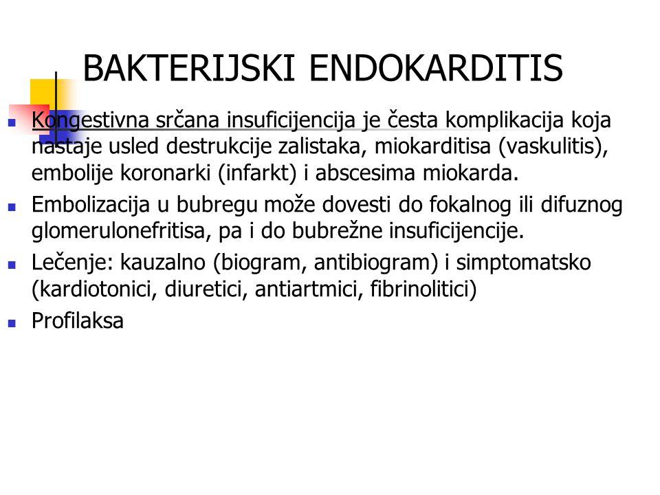 BAKTERIJSKI ENDOKARDITIS