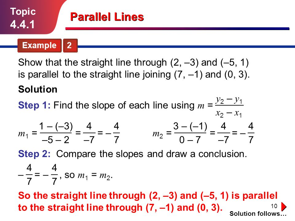 Topic 4.4.1. Parallel Lines. Example 2.