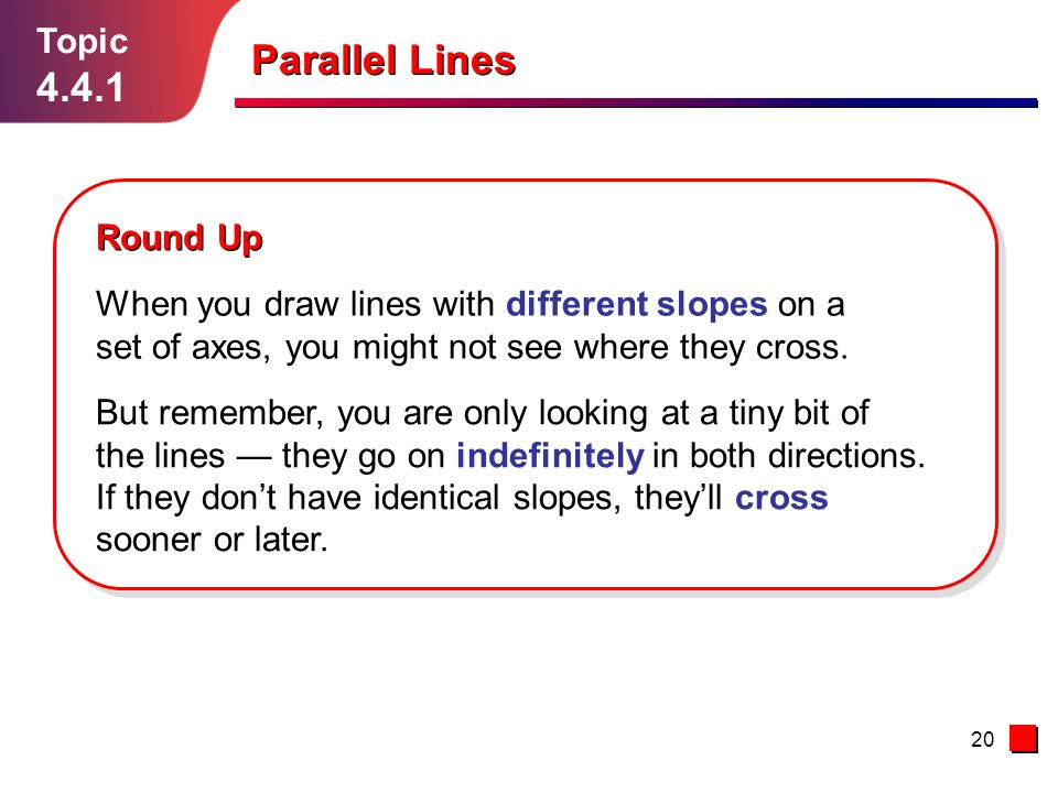 Parallel Lines 4.4.1 Topic Round Up