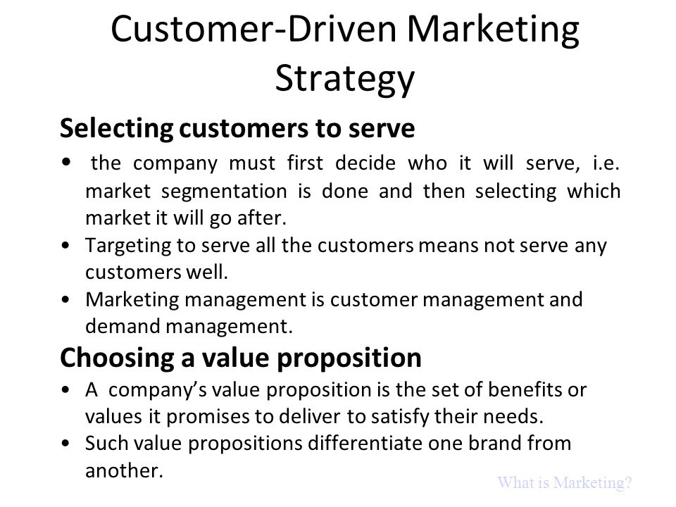 Customer-Driven Marketing Strategy