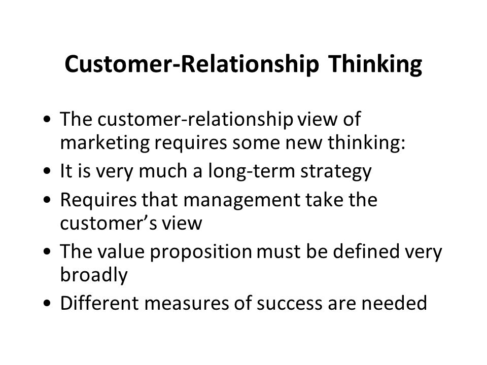 Customer-Relationship Thinking