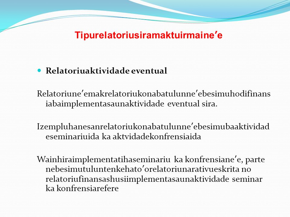 Tipurelatoriusiramaktuirmaine'e