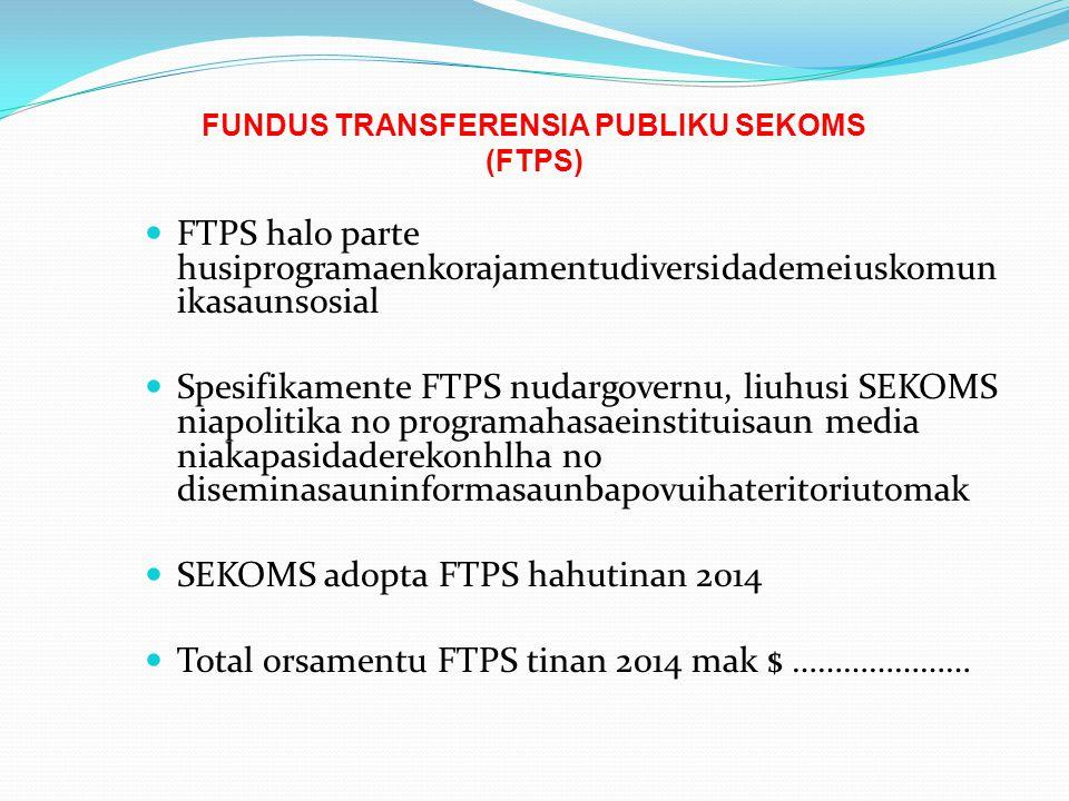 FUNDUS TRANSFERENSIA PUBLIKU SEKOMS (FTPS)